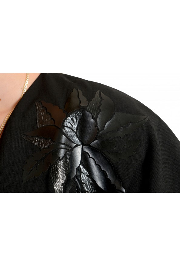 Just Cavalli Women's Black Wool Short Sleeve Blouse Top: Picture 4