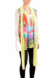 Just Cavalli Women's Multi-Color Scarf Decorated Silk Blouse Top : Picture 2