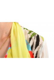 Just Cavalli Women's Multi-Color Scarf Decorated Silk Blouse Top : Picture 4
