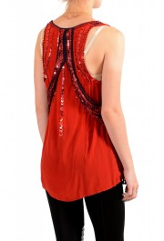 Just Cavalli Women's Red Sequin Embellished Blouse Top: Picture 3