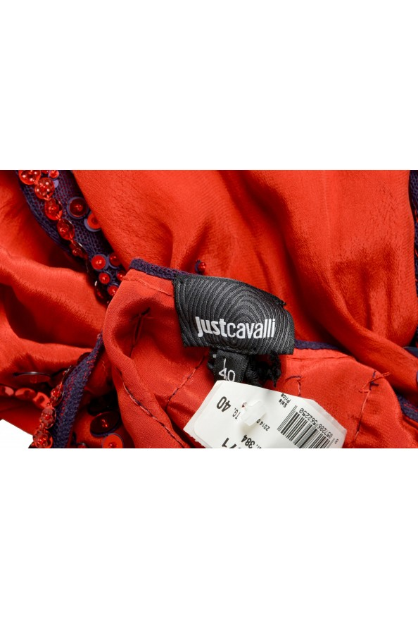 Just Cavalli Women's Red Sequin Embellished Blouse Top: Picture 4