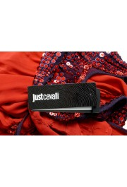 Just Cavalli Women's Red Sequin Embellished Blouse Top: Picture 5