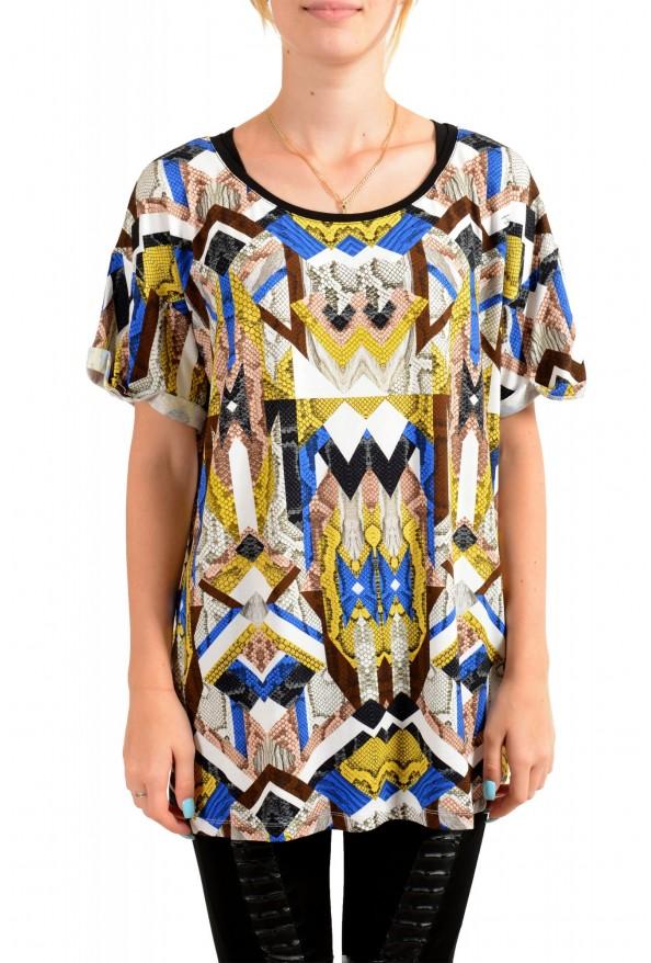 Just Cavalli Women's Multi-Color Crewneck Oversized T-Shirt