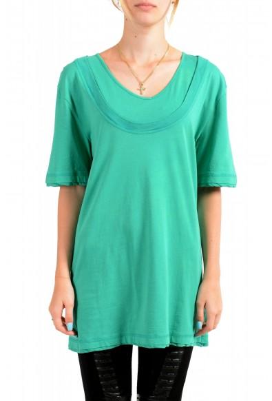 Just Cavalli Women's Emerald Green Crewneck T-Shirt