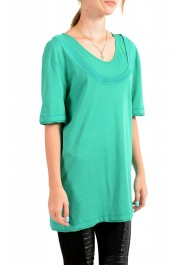 Just Cavalli Women's Emerald Green Crewneck T-Shirt: Picture 2