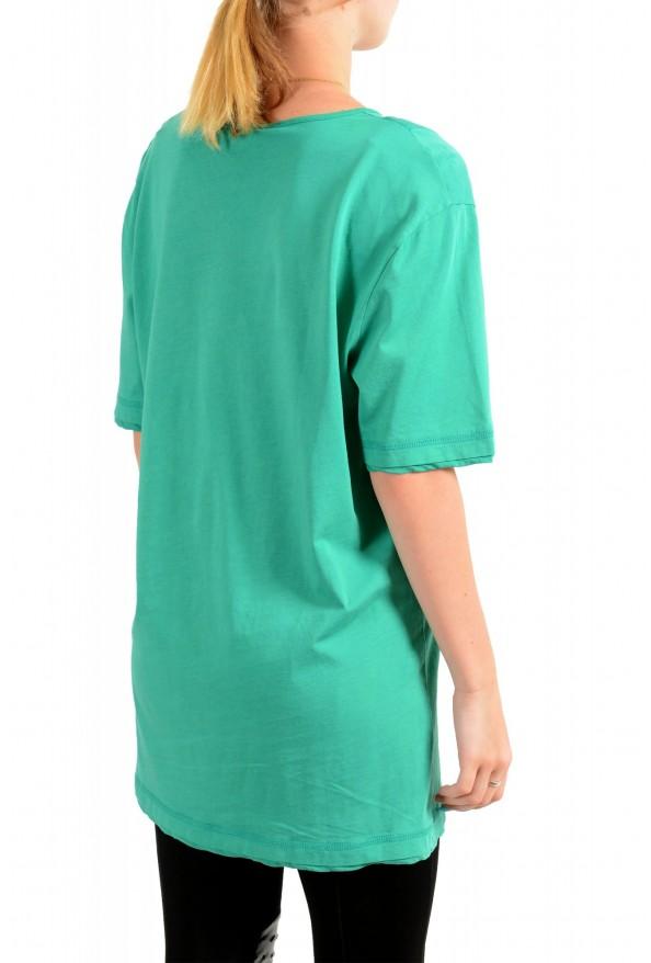 Just Cavalli Women's Emerald Green Crewneck T-Shirt: Picture 3