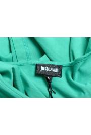 Just Cavalli Women's Emerald Green Crewneck T-Shirt: Picture 5
