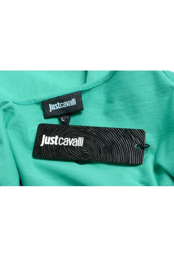 Just Cavalli Women's Emerald Green Crewneck T-Shirt: Picture 6