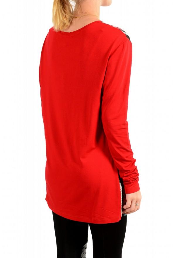 Just Cavalli Women's Animal Print Crewneck Long Sleeve Blouse Top : Picture 3