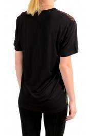 Just Cavalli Women's Floral Print Multi-Color Crewneck T-Shirt : Picture 3