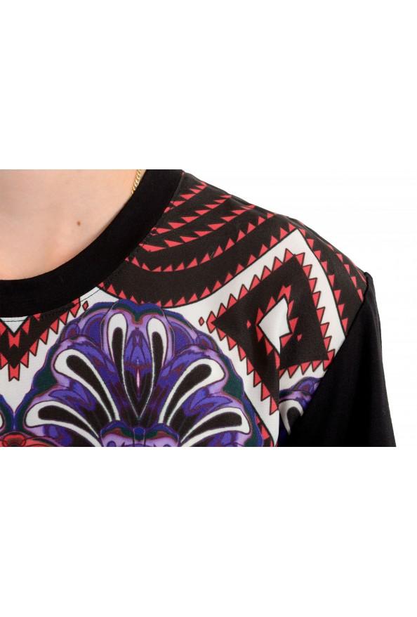 Just Cavalli Women's Floral Print Multi-Color Crewneck T-Shirt : Picture 4