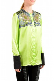 Just Cavalli Women's Multi-Color 100% Silk Long Sleeve Blouse Top : Picture 2