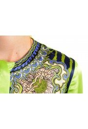 Just Cavalli Women's Multi-Color 100% Silk Long Sleeve Blouse Top : Picture 4