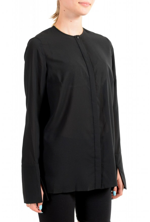 Just Cavalli Women's Black See Through Long Sleeve Blouse Top : Picture 2