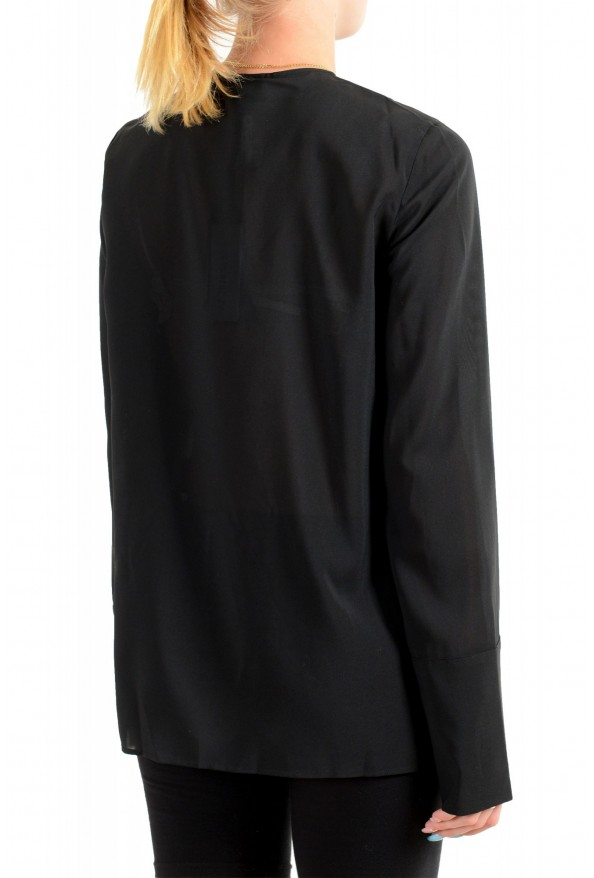 Just Cavalli Women's Black See Through Long Sleeve Blouse Top : Picture 3