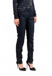 Versace Women's Dark Blue Wash Slim Leg Jeans : Picture 2