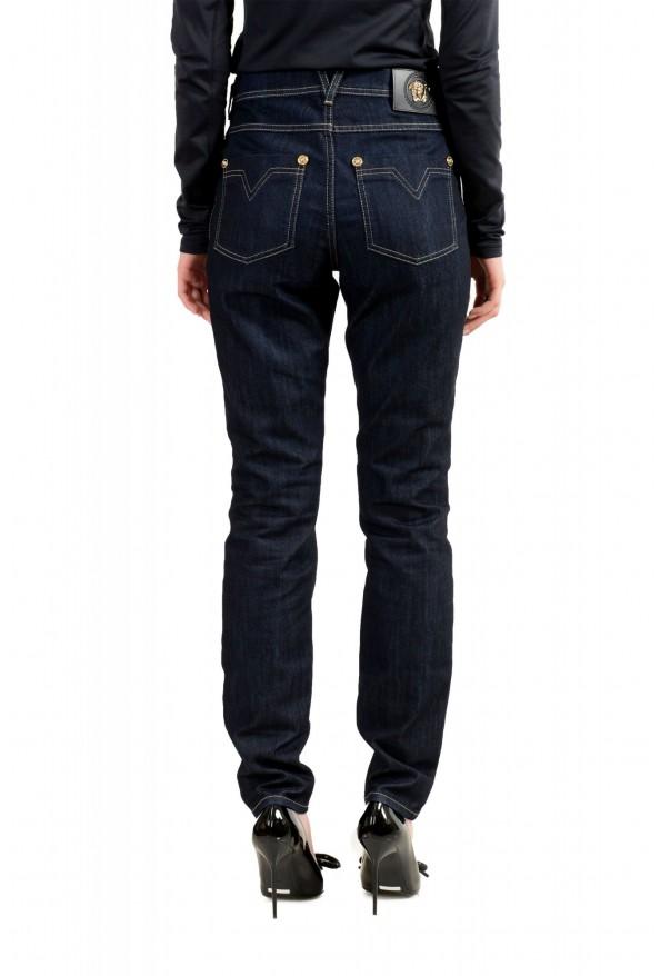 Versace Women's Dark Blue Wash Slim Leg Jeans : Picture 3
