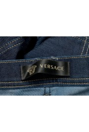 Versace Women's Dark Blue Wash Slim Leg Jeans : Picture 4