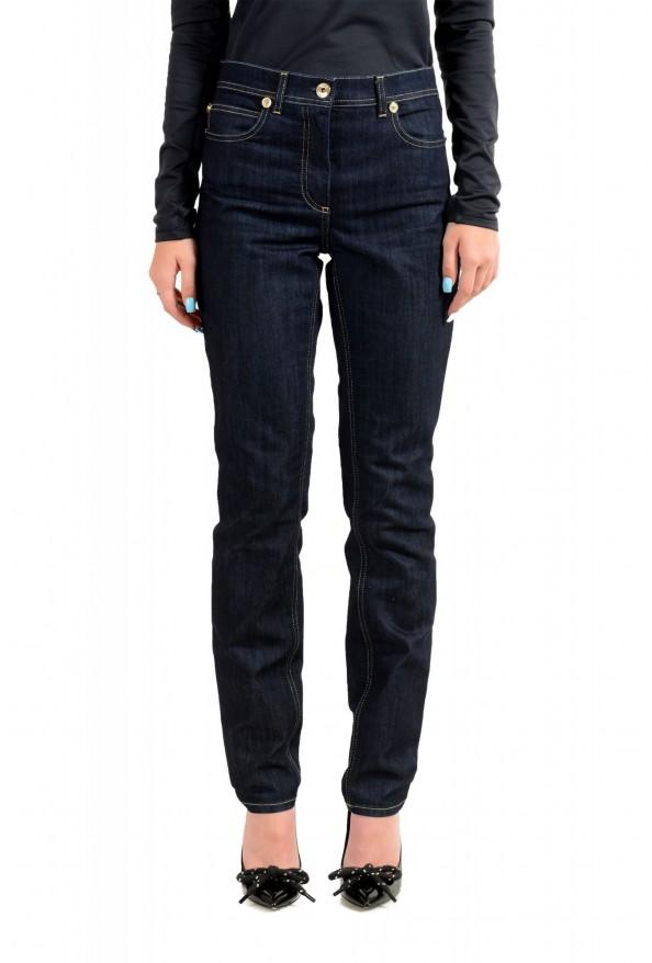 Versace Women's Dark Blue Wash Slim Leg Jeans