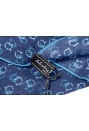 Salvatore Ferragamo Blue Logo Print Shawl Scarf: Picture 3