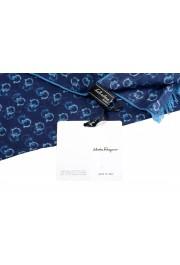 Salvatore Ferragamo Blue Logo Print Shawl Scarf: Picture 4