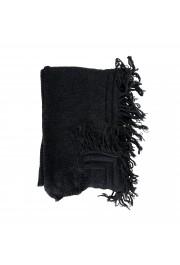 Sferra Unisex Black Alpaca Wool Fringed Scarf: Picture 2