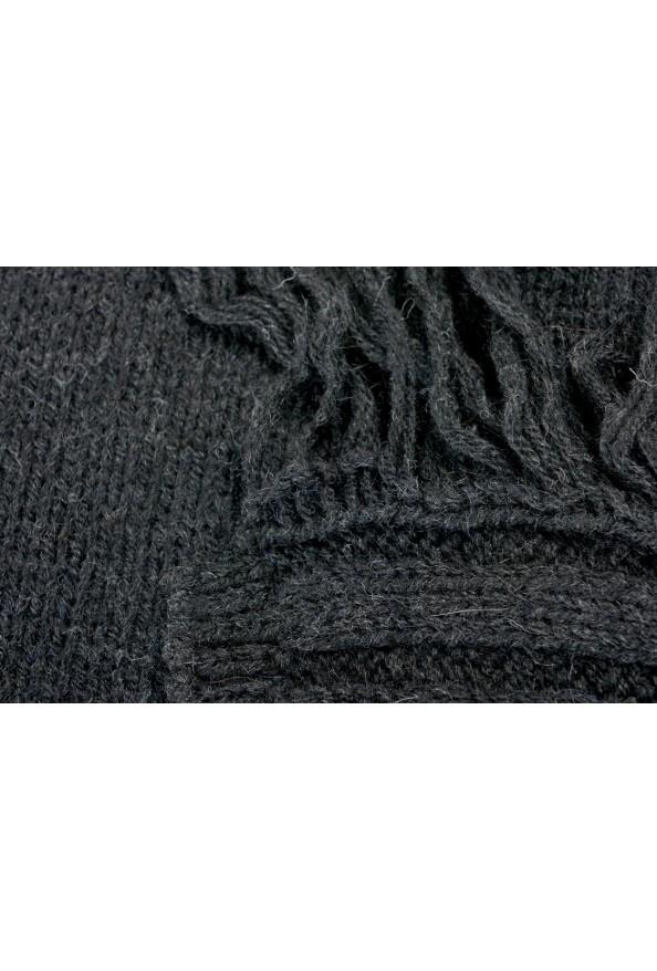 Sferra Unisex Black Alpaca Wool Fringed Scarf: Picture 3