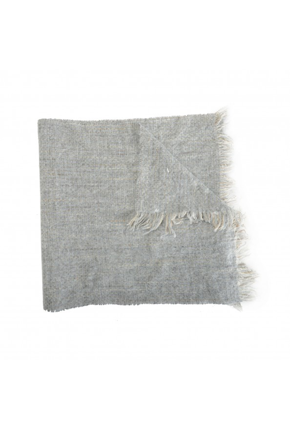 Sferra Unisex Gray Mohair Wool Scarf: Picture 2
