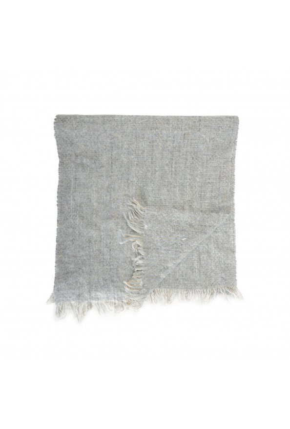 Sferra Unisex Gray Mohair Wool Scarf: Picture 3