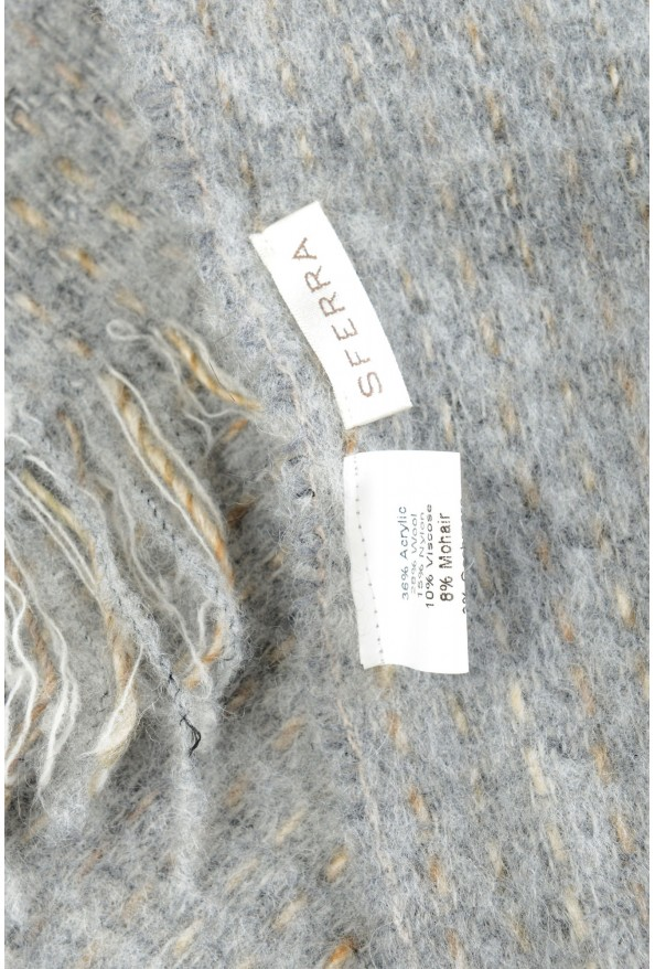 Sferra Unisex Gray Mohair Wool Scarf: Picture 4