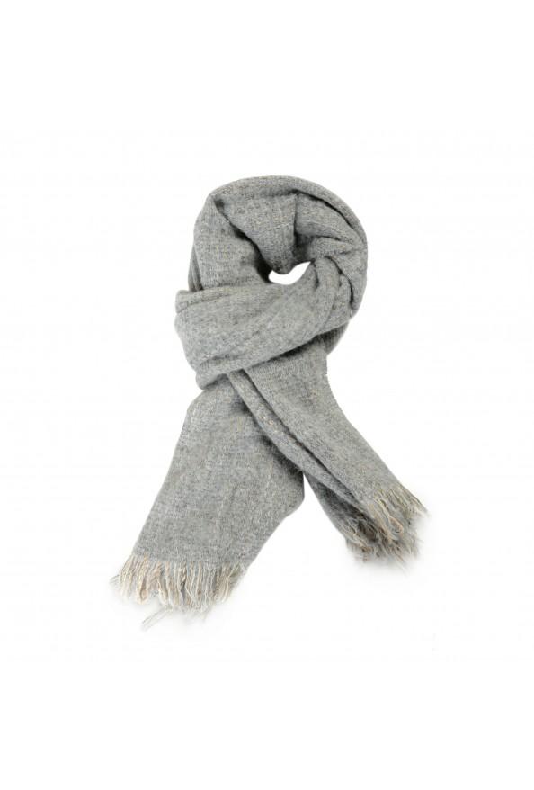Sferra Unisex Gray Mohair Wool Scarf