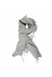 Sferra Unisex Gray Alpaca Wool Fringed Scarf
