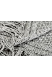 Sferra Unisex Gray Alpaca Wool Fringed Scarf: Picture 2