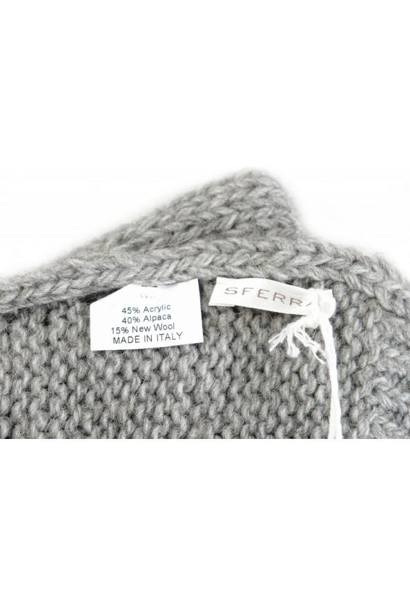 Sferra Unisex Gray Alpaca Wool Fringed Scarf: Picture 3