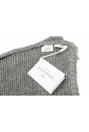 Sferra Unisex Gray Alpaca Wool Fringed Scarf: Picture 4