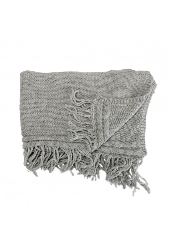 Sferra Unisex Gray Alpaca Wool Fringed Scarf: Picture 5