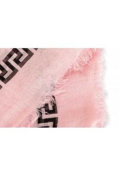 Versace Pink 100% Silk Logo Print Shawl Scarf: Picture 2