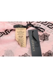 Versace Pink 100% Silk Logo Print Shawl Scarf: Picture 4