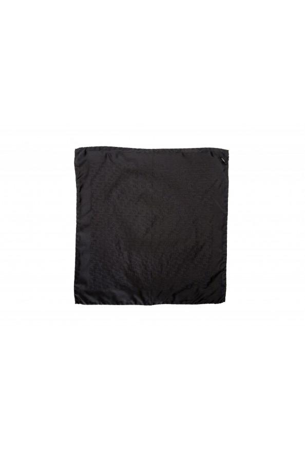 Gianfranco Ferre Men's 100% Silk Logo Print Pocket Square: Picture 2