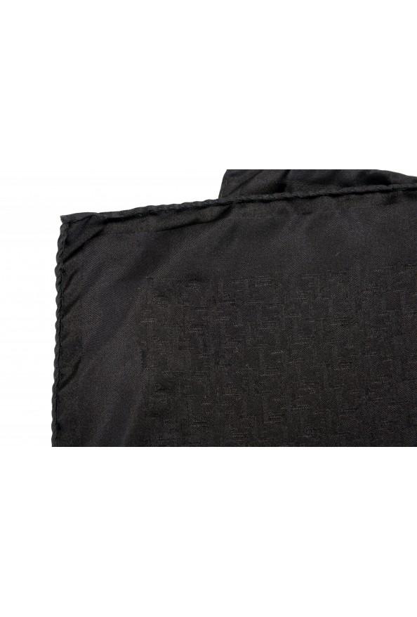 Gianfranco Ferre Men's 100% Silk Logo Print Pocket Square: Picture 3