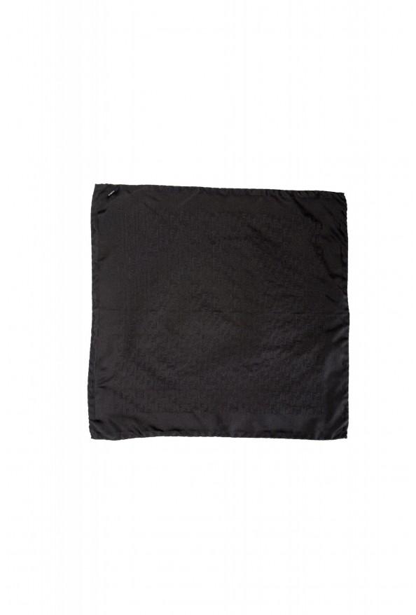 Gianfranco Ferre Men's 100% Silk Logo Print Pocket Square