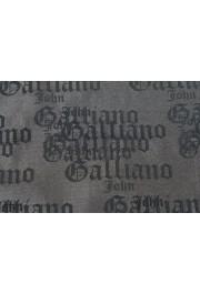 John Galliano Men's 100% Silk Logo Print Pocket Square: Picture 2