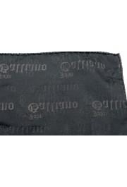 John Galliano Men's 100% Silk Logo Print Pocket Square: Picture 3