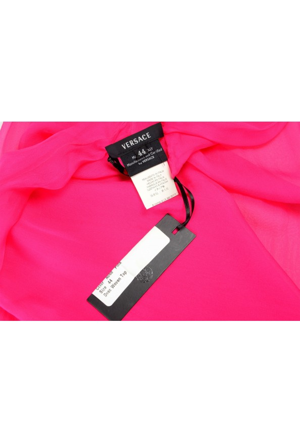 Versace Women's Bright Pink 100% Scarf: Picture 3
