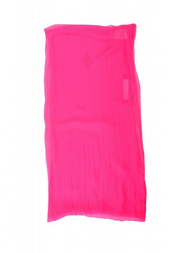 Versace Women's Bright Pink 100% Scarf