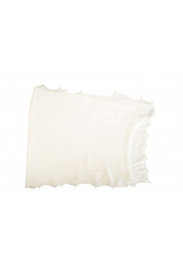 Roberto Cavalli Women's Ivory 100% Silk Embellished Scarf: Picture 3