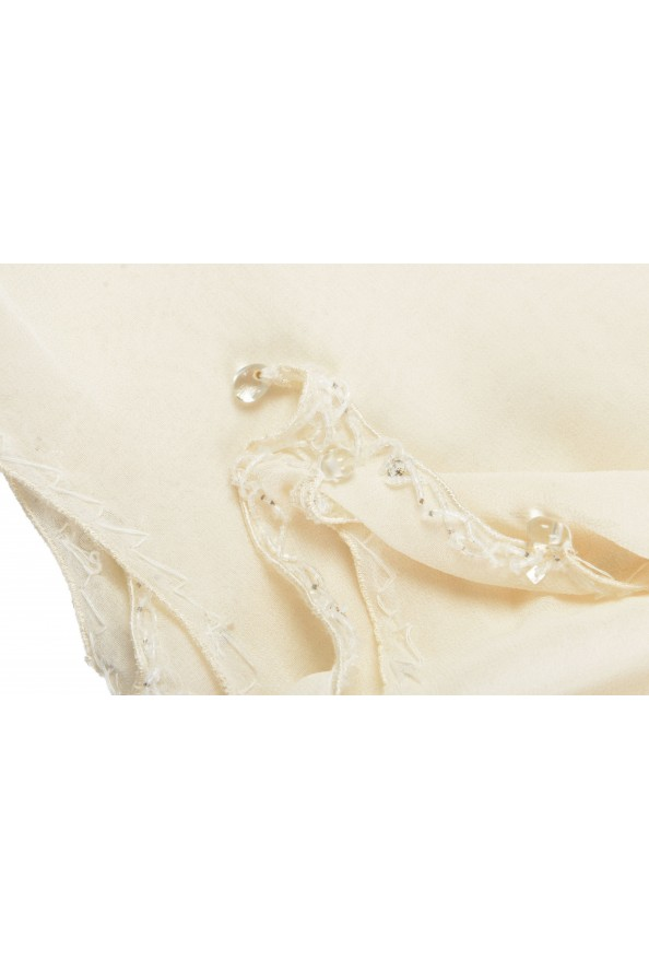 Roberto Cavalli Women's Ivory 100% Silk Embellished Scarf: Picture 4