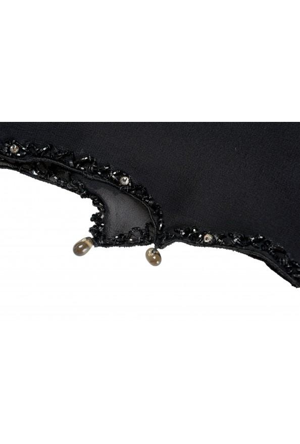 Roberto Cavalli Women's Black 100% Silk Embellished Scarf: Picture 2