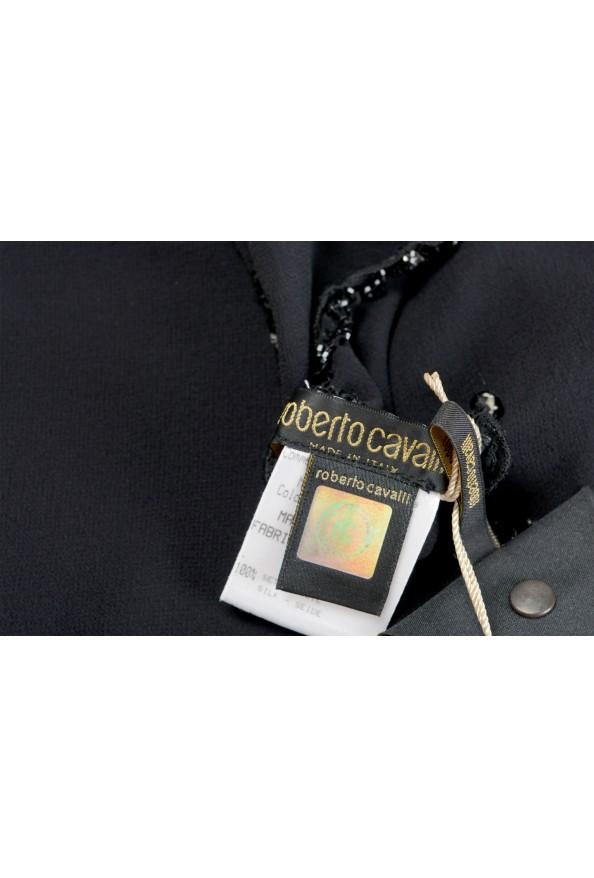 Roberto Cavalli Women's Black 100% Silk Embellished Scarf: Picture 3