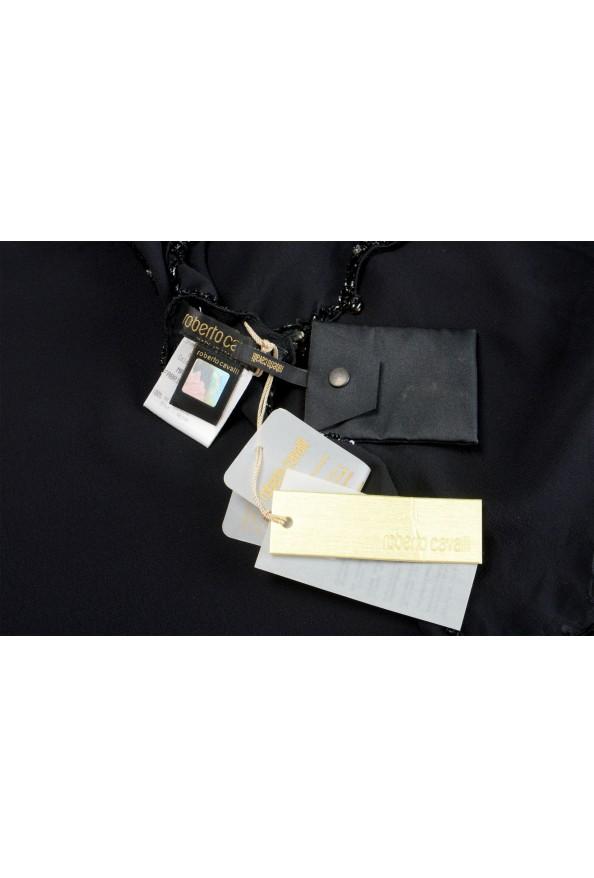 Roberto Cavalli Women's Black 100% Silk Embellished Scarf: Picture 4